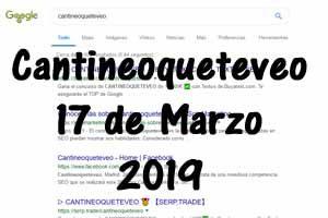Clasificación de cantineoqueteveo 17 de marzo de 2019